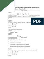 Simulacro Parcial 1 sobre Ecuaciones de primer orden y sus aplicaciones