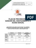 PLAN DE PREVENCIÒN Y SANCIÒN DEL HOSTIGAMIENTO SEXUAL