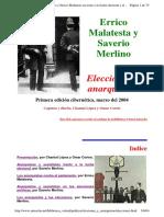 Errico Malatesta y Saverio Merlino - [1897] Elecciones y Anarquismo (Ed. Biblio. Virtual Antorcha)