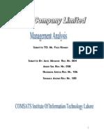 Management Analysis of Millat Tractors Ltd.