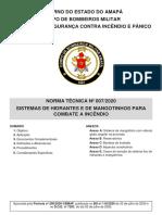 NT Nº 007-2020 - Hidrantes e Mangotinhos
