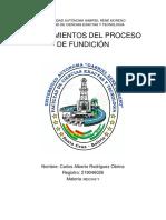 CONOCIMIENTOS DEL PROCESO DE FUNDICION