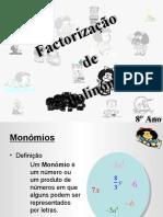 factorização de polinómios