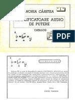 Catalog amplificatoare audio