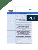 Matriz de Roles, Responsabilidades y Orgranigrama