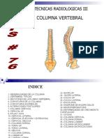 tecnicas de radiologia para columna vertebral con anatomia
