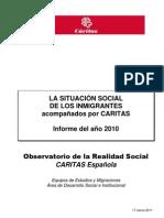 Situación inmigrantes Cáritas ORS 17-03-2011_