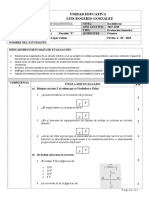 EVALUACION DIAGNOSTICA DE ELECTROTECNIA 3RO 2019-2020