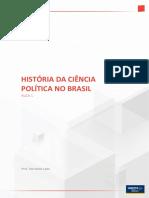 História Da Ciência Política No Brasil - Aula 1