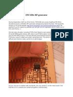 250MHzRFgenerator