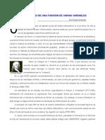 Límite y Continuidad de Funciones de Varias Variables.