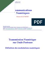 Cours de Transmissions Numériques Du S2