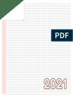 Planner 2021 - 18x18 - Laranja