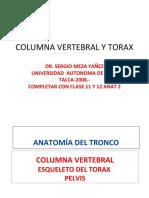 CLASE 6 COLUMNA VERTEBRAL Y TORAX (PPTshare)