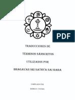 Traducciones de Terminos Sanscritos