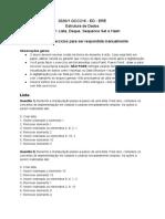 REO 2 Lista, Deque, Sequence Set e Hash