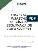 Laudo de Segurança Em Empilhadeira - Maq-tec Araras - Comercio de Pecas Industriais Ltda - Me