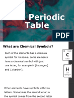 Chemistry Notes 2 - The Periodic Table