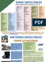 LISTADO DE CANALES  TV SATELITAL
