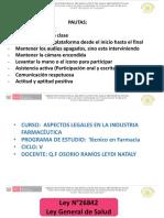 2 CLASE ASPECTOS LEGALES EN LA INDUSTRIA FARMACEUTICA -5 CICLO