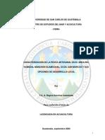 CARACTERIZACIÓN DE LA PESCA ARTESANAL EN EL AREA DEL HUMEDAL MANCHÓN GUAMUCHAL, OCÓS, SAN MARCOS Y SUS OPCIONES DE DESARROLLO LOCAL