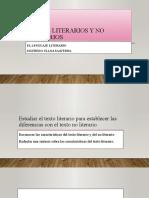 Textos Literarios y No Literarios Ppt