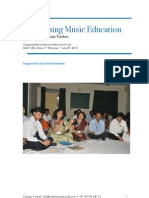 "A report  on ""Revisioning Music Education"" - a workshop with music teachers"