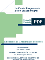 Presentación del Programa de Educación Sexual Integral