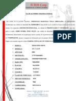ACTA DE ACUERDO TRANSACCIONAL acciente transito