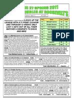 League 27 Newsletter Volume 4 Issue 12