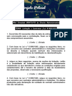 Mini Simulado - Direito Administrativo - Projeto Policial