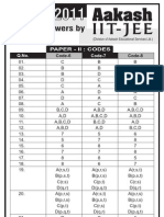 answer-key-and-solution-for-iit-jee-paper-II-2011