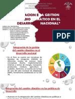INTEGRACIONDE LA GESTION DEL CAMBIO CLIMATICO EN EL DESARROLLO NACIONAL