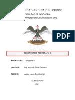 CUESTIONARIO TOPOGRAFIA II - AUCCA LAURA DAVID JOHAN
