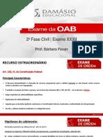 Laboratorio de Pecas 13 e 14 - Recurso Extraordinario - Prof. Barbara Pavan