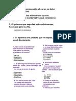 CAMPEONATO DE ADIVINANZAS