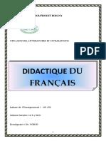DIDACTIQUE DU FRANçAIS 2020