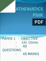Matematik-Presentation PMR