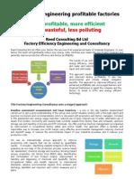 Efficiently Engineering Profitable Factories RCB 15 2011