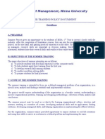 MBA-SummerTrg Policy-2011