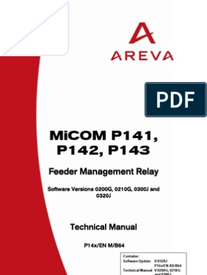 P14x_EN_M_B64 AREVA MICOM P143 Manual | Relay | Fuse (Electrical)