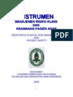 Dody Firmanda 2005 - Instrumen IPDSA Risiko Klinis Dan Keselamatan Pasien Edisi 1 Versi 2005