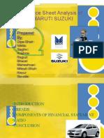 Balance Sheet Analysis-Maruti Suzuki