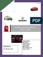 Maruti - Balance Sheet
