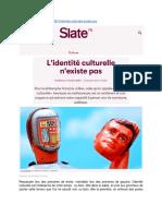 L'identité culturelle n'existe pas - François Jullien (Slate, 31-10-2020)