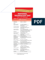 National Technology Day 2011