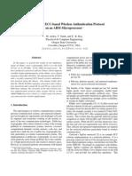 An High-Speed ECC-BasedWireless Authentication Protocol on an ARM Microprocessor