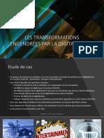 ISG MSc1 DIGITALISATION 2020 2021 C3 CLASSE INVERSEE - LES TRANFORMATIONS ENGENDREES PAR LA DIGITALISATION