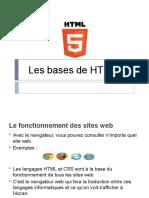 Les bases de HTML 5