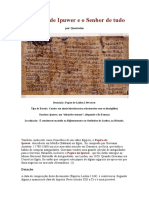 O Dialogo de Ipuwer e o Senhor de Tudo, Egito